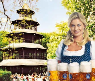 Hofbräu München Beers Available at the Chinese Tower image